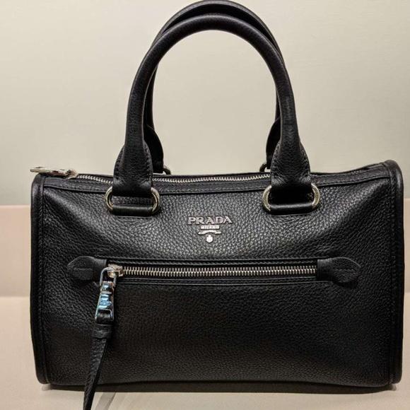 4a19c211fa Prada Vitello Phenix Leather Convertible Boston